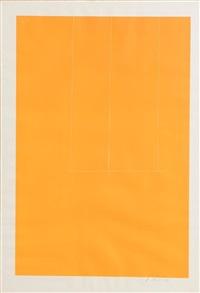 london series i. orange (1971) by robert motherwell