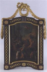 martyrium eines jugendlichen heiligen vor einem römischen kaiser, heidnischen priestern und der statue der göttin artemis/diana by austrian school-german (18)