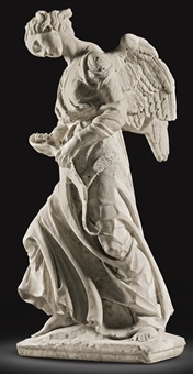 pair of mourning angels by niccolo dell' arco