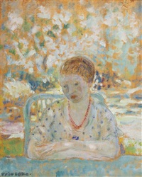 in the garden by frederick carl frieseke