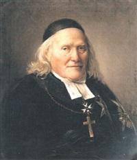 porträtt av domprosten i västerås, erik waller by per krafft the younger