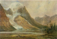 the tumbling glacier, b... lake by augustus fredrick kenderdine