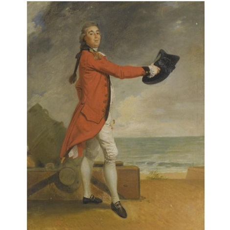 portrait of major george maule, acting chief engineer of madras by johann joseph zoffany