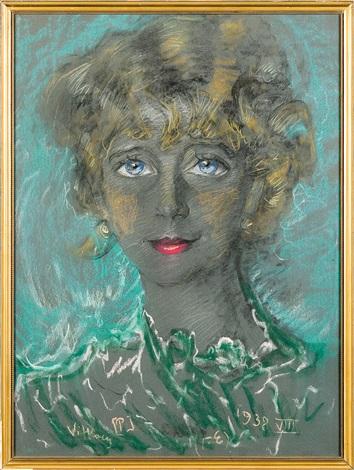 womans portrait by stanislaw ignacy witkiewicz