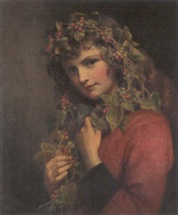 portrait of a girl adorned with berries by eden upton eddis