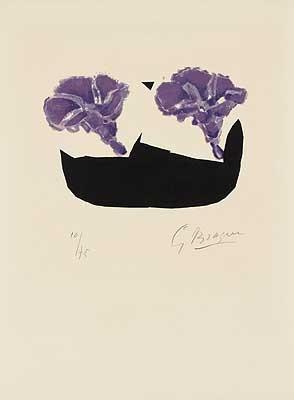 zwei violette blüten les volubilis by georges braque