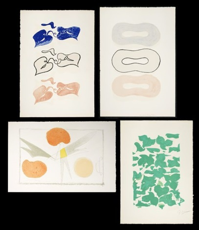 lithographs from la liberté des mers 4 works by georges braque