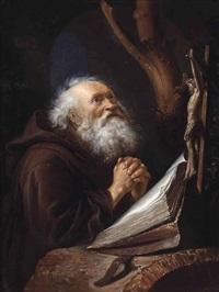 saint jerome in prayer by gerrit dou