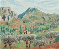 lourmarin, le luberon by pierre paul girieud