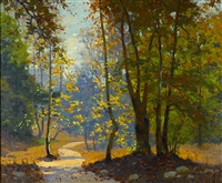 a woodland path by ferdinand kaufmann
