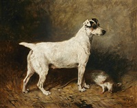 zoe, a fox terrier, 1896 by john emms