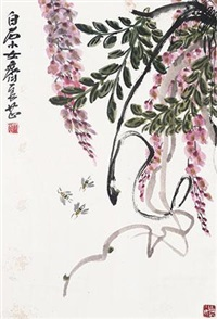 紫藤蜜蜂 by qi liangzhi