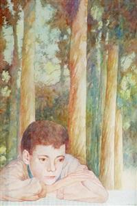 niño en el bosque by eduardo audivert