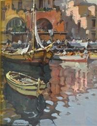 barche al porto by alfredo sablautzki