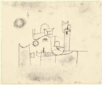 sonne im thor (sun in the gate) by paul klee