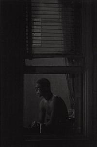 man in window by roy decarava