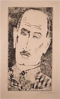 head of a man (portrait of louis wiesenberg) by milton avery