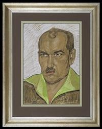 portrait of wojciech burnat by stanislaw ignacy witkiewicz