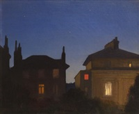 summer night, st. john's wood by sir george clausen