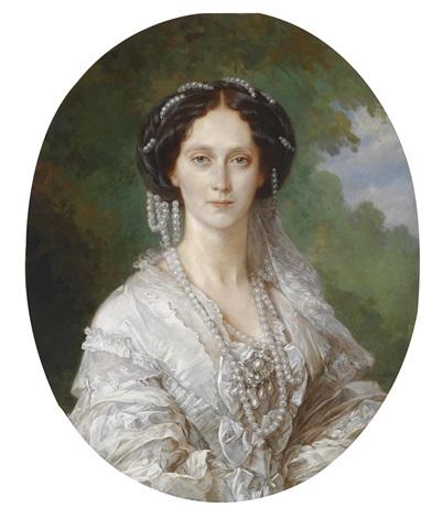 bildnis maria alexandrovna marie von hessen geboren in darmstadt 1824 1880 st petersburg verheiratet mit zar alexander ii by franz xaver winterhalter