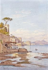 une vue de la baie de naples by salomon corrodi