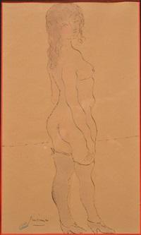 femme au bain by jules pascin
