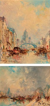 le port (+ canal; 2 works) by jean etienne karnec