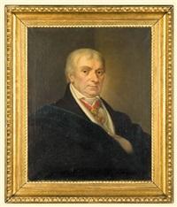 male portrait with the leopold decoration by karl gottlieb schweikart
