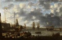 hafenszene mit holländischen schiffen by jan peeters the elder