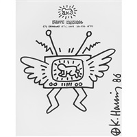 untitled (radiant baby on tv) by keith haring