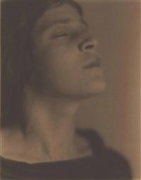 head of an italian girl (tina modotti) by edward weston