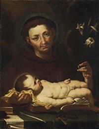 der heilige antonius von padua by gioacchino assereto