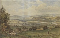 view of hexham by thomas h. hair