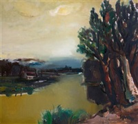bord de rivière by albert saverys