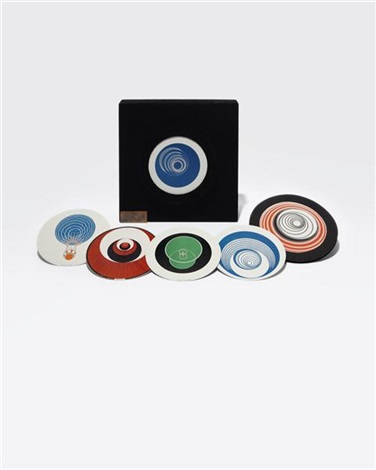 rotoreliefs optical disks set of 12 by marcel duchamp