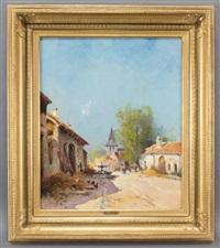 village by eugène galien-laloue