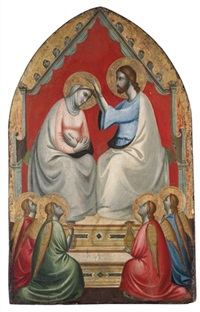 the coronation of the virgin by francesco di giotto di bondone