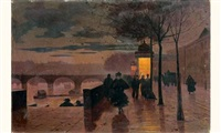 le soir, quai du louvre by léon parent