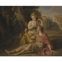 rinaldo and armida, said to be henry greswold-lewis and madame st. clair by ludwig guttenbrunn