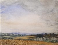 over the fields by sir george clausen