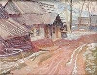 padający śnieg by stanislaw kamocki