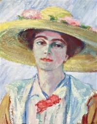 portrait daisy au chapeau de paille by georg einbeck