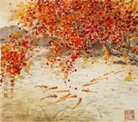 鱼乐(三) by huang xiangling
