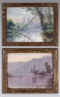 paysages (2 works) by gustave moreau