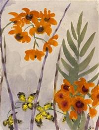 gelbe und orangefarbene blüten by emil nolde