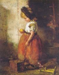 meisje met appel by andré broedelet