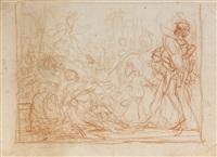 massacre des innocents (study)(+ 3 others; 4 works) by cornelis schut the elder
