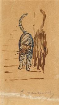 chat et son ombre by édouard manet