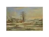 winter landscape by robert scott duncanson