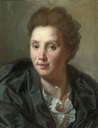 portrait de louise rivalz, épouse du peintre by antoine rivalz